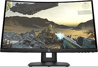 """Monitor gaming - HP X24c, 23.6"""" Full-HD Curvo, 4 ms, 144 Hz, Negro"""