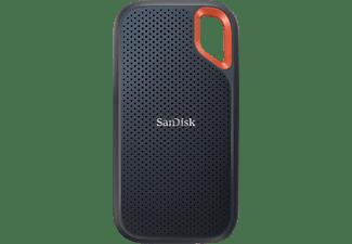 SANDISK Extreme Portable Festplatte, 2 TB SSD, extern, Grau/Orange