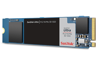 SANDISK Ultra 3D NVMe SSD, 500 GB, Interner Speicher, intern