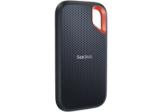 SANDISK Extreme Portable, 500 GB SSD, extern, Grau/Orange