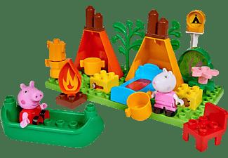 BIG Bloxx Peppa Pig Camping Set Bausteine, Mehrfarbig