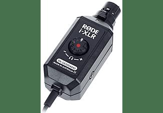 Adaptador - Rode Microphones I-XLR, Para micrófono, Lightning, 24 Bits/96 kHz, App Rode-Rec para iOS+, Negro