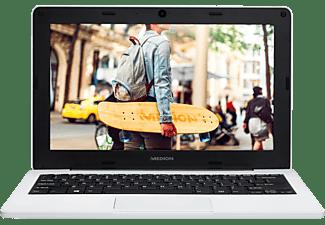 MEDION AKOYA® E11201 (MD61860), Notebook mit 11,6 Zoll Display, Celeron® Prozessor, 4 GB RAM, 64 GB Flash, Intel® HD-Grafik 500, Weiß