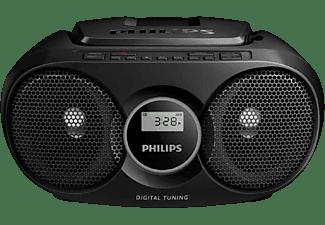 Reproductor CD - Philips AZ215B/12, Antena FM, Sintonizador digital, Negro