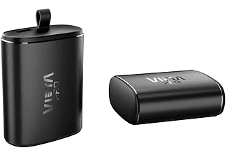 Auriculares Bluetooth - Vieta Pro True Wireless Done Plus MK008, Micrófono, Control Táctil, Negro