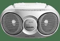 Reproductor CD - Philips AZ215S/12, Antena FM, Sintonizador digital, Plata