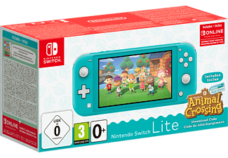 NINTENDO Switch Lite Türkis + Animal Crossing: New Horizons + Switch Online 3-Monate-Abo