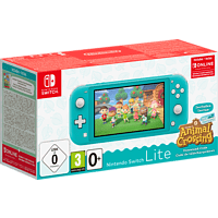 NINTENDO Switch Lite Türkis + Animal Crossing: New Horizons + Switch Online 3-Monate-Abo