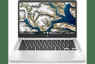 Portátil - HP Chromebook 14a-na0004ns, 14 HD, Intel® Celeron® N4020, 4GB, 64GB eMMC, Chrome OS, Plata