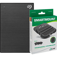 SEAGATE TV-Festplatte Backup Plus Slim Portable 1TB mit InLine Halterung