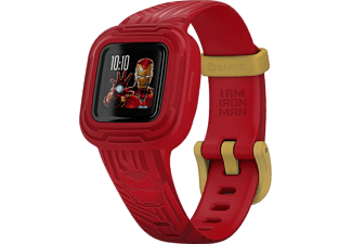 GARMIN vívofit jr. 3 - Marvel Iron Man - Bracelet d'activité (Rouge/Or)