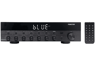 Amplificador HiFi - Fonestar AS-6060, Bluetooth, 60Wx2 RMS, 350W, Mando a distancia, Negro