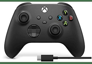 Mando - Microsoft Xbox One Controller Wireless 1V8-00002, Inalámbrico, Para Xbox One Series X/S + Cable USB-C