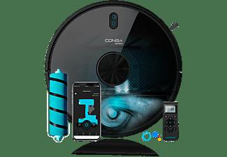 Robot aspirador - Cecotec Conga 6090 Ultra, 10000 Pa, 240 min, APP Control, Room Plan 2.0, 64 dB, Negro