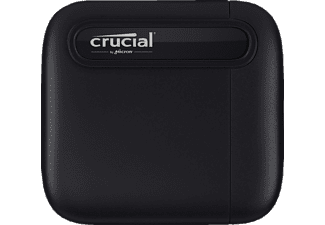 CRUCIAL portable X6 USB 3.1 Gen 2 Typ-C (10 GB/s), 1 TB SSD, extern, Schwarz