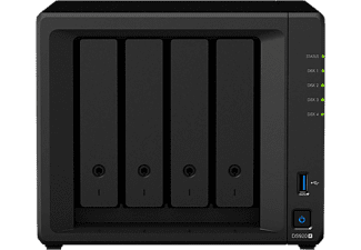 SYNOLOGY NAS Gehäuse DiskStation DS920+, 4GB RAM, 2x Gb LAN, 4 Slots, Schwarz