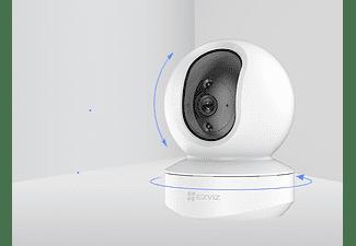 Cámara de vigilancia IP - Ezviz TY1, 360º,  FHD, 2MP, Visión nocturna, Detección de movimiento, Blanco