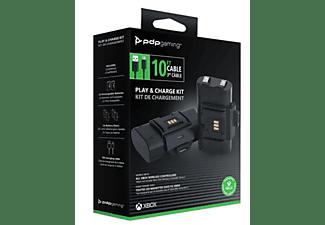 Pack cargador -  PDP Juega y Carga Kit, Para Xbox Serie X y Xbox One , Autonomía 20 h, Negro