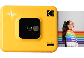 KODAK Mini Shot Combo 3 Sofortbildkamera, Gelb
