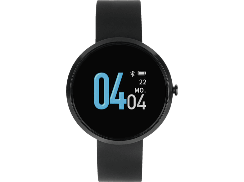 XLYNE X WATCH Siona Color Fit (54060) Smartwatch Metall Echtleder, 18 x 234mm, Dark Black
