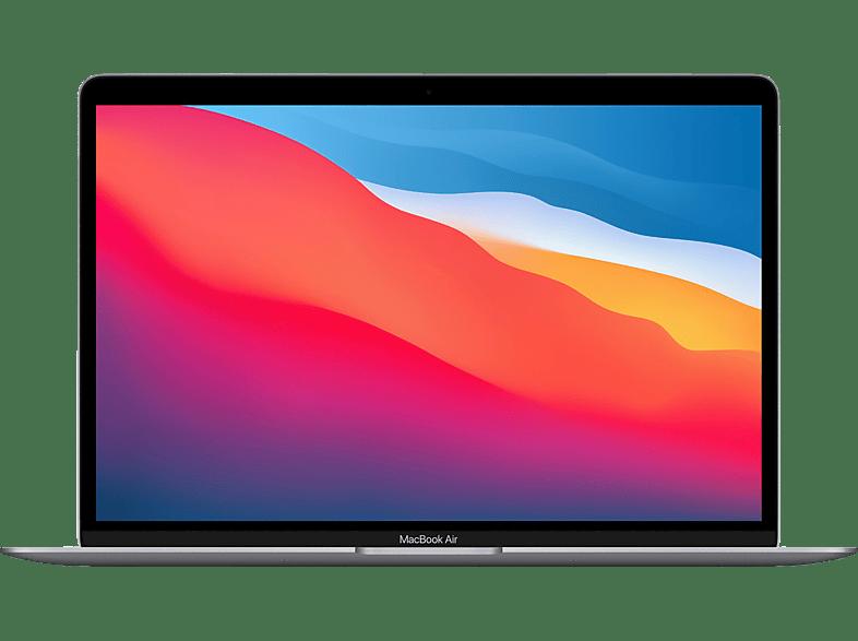 APPLE MacBook Air M1,2020 MGN63D A, Notebook mit 13,3 Zoll Display, 8 GB RAM, 256 SSD, 7-Core GPU, Space Grau