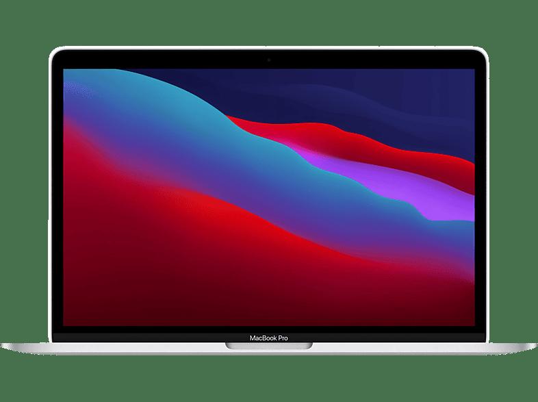 APPLE MacBook Pro M1, 2020 MYDA2D A, Notebook mit 13,3 Zoll Display, 8 GB RAM, 256 SSD, M1 GPU, Silber