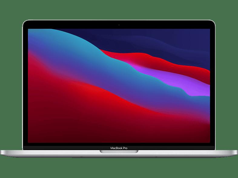 APPLE MacBook Pro M1, 2020 MYDC2D A, Notebook mit 13,3 Zoll Display, 8 GB RAM, 512 SSD, M1 GPU, Silber