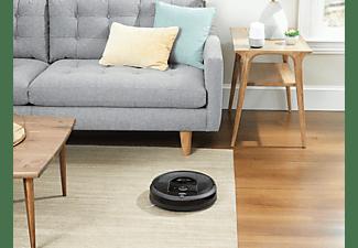 IROBOT Saugroboter Roomba I7+ (I7558) inkl. CleanBase Ladestation, Schwarz (App-Steuerbar)