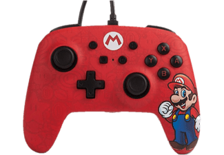 Mando - Power A Super Mario, Para Nintendo Switch, Con cable, Rojo
