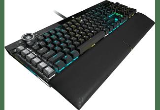 CORSAIR Gaming Tastatur Gaming K100 RGB, Corsair OPX, USB, DE (CH-912A01A-DE)