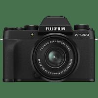 FUJIFILM X-T200 Kit Systemkamera 24.2 Megapixel Megapixel mit Objektiv 15-45 mm, 8,9 cm Display Touchscreen, WLAN