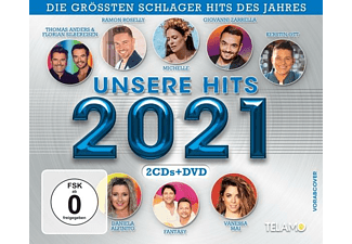 VARIOUS - Unsere Hits 2021  - (CD + DVD Video)