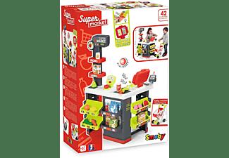 SMOBY Supermarkt mit Einkaufswagen Rollenspielzeug Grau/Grün
