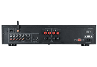 Amplificador estéreo - Fonestar AS170Plus, Bluetooth, Reproductor USB, 300W, Negro