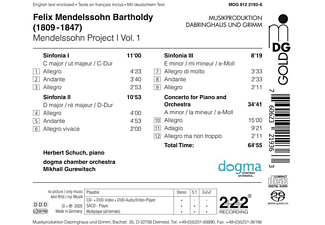 Mikhail/do.gma chamber orchestra Gurewitsch - MENDELSSOHN PROJECT VOL.1  - (SACD Hybrid)