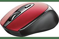 Ratón inalámbrico - Trust Zaya Rechargeable Wireless, 1600 ppp, Ahorro energía, Baterías recargables, Rojo