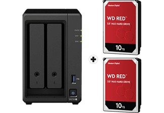 SYNOLOGY DiskStation DS720+ con 2x 10TB WD Red NAS (HDD) - Server NAS (HDD, SSD, 20 TB, Nero)