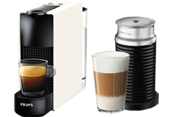 KRUPS Nespresso Kaffeemaschine Essenza Mini + Milk Pure White XN 1111