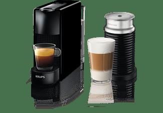 KRUPS Nespresso Kaffeemaschine Essenza Mini + Milk Piano Black XN 1118