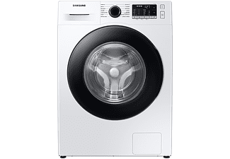Lavadora carga frontal - Samsung WW90TA046AE/EC, 9 kg, 1400 rpm, EcoBubble, 14 programas,  Blanco