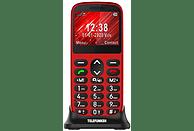 "Móvil - Telefunken S420, Para mayores, Bluetooth, 2.21"", 64 MB, Compatible Audífonos, Rojo"