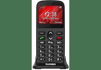 "Móvil - Telefunken S420, Para mayores, Bluetooth, 2.21"", 64 MB, Compatible Audífonos, Negro"