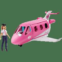 BARBIE Reise Traum-Flugzeug mit Puppe (blond), Karriere-Barbie, Barbie Pilotin Spielzeugpuppenzubehör Mehrfarbig