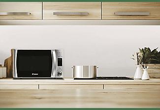 Microondas - Candy CMXG30DS, Grill, 1000W, 5 niveles, Descongelación, 30l, Plato giratorio 31.5cm, Inox