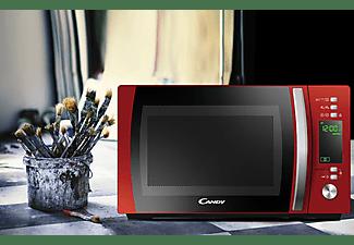 Microondas - Candy X-Range CMXG20DR, Grill, 1000W, 5 niveles, 20l, Descongelación, Inicio diferido, Rojo