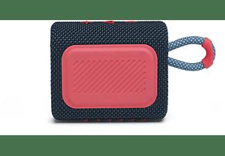 JBL GO3 Bluetooth Lautsprecher, Blau/Pink