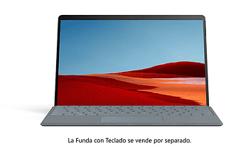 "Convertible 2 en 1 - Microsoft Surface Pro X, Plata, 13"", Microsoft SQ2, 16 GB RAM, 256 GB SSD, W10"