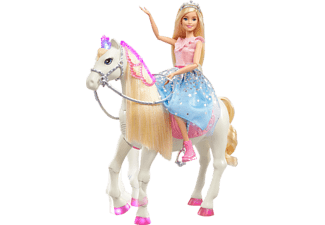 BARBIE Barbie Prinzessinnen Abenteuer Tanzendes Pferd mit Prinzessin Puppe, Licht & Geräuschen Anziehpuppe Mehrfarbig