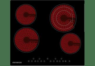 REACONDICIONADO Encimera - Infiniton VIT4T23, Vitrocerámica, 4 Zonas, 7000 W, Táctil, Negro