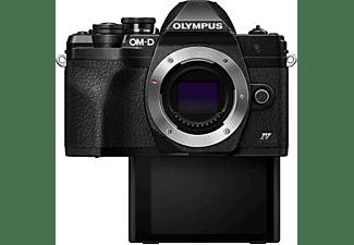 OLYMPUS OMD E-M10 Mark IV Kit Systemkamera mit Objektiv 14-42 mm, 7,6 cm Display Touchscreen, WLAN